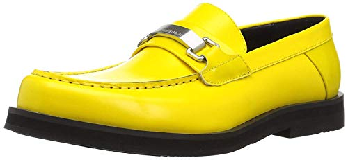Calvin Klein Men's Lyric Slide Sandal, Cyber Yellow, 12 M US