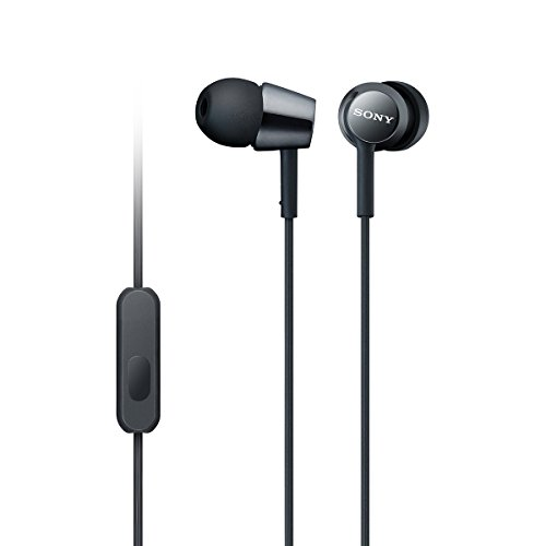 Sony MDR-EX150AP1 In-Ear Headphones with Mic (Special Black) – an Amazon Exclusive