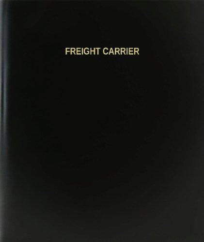 "BookFactory® Freight Carrier Log Book / Journal / Logbook - 120 Page, 8.5""x11"", Black Hardbound (XLog-120-7CS-A-L-Black(Freight Carrier Log Book))"
