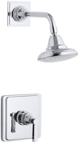 KOHLER K-T13134-4B-CP Pinstripe Shower Faucet Trim with Lever Handle, Polished Chrome