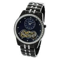 Elgin Crystal Watch (Elgin Men's Watch #FG8085 In Black Crystal Metal Base 45MM Automatic)