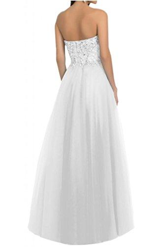 Toscana novia scheind conglomerados corazón tul vestidos de noche festival de dama de honor larga vestidos de baile del partido blanco