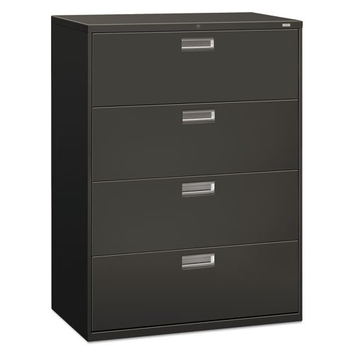 Hon 694Ls 600 Series 42 Inch By 19 1 4 Inch 4 Drawer Lateral File  Charcoal