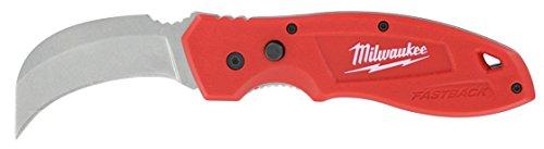 Milwaukee 48-22-1985 Fastback Hawk Bill Folding Knife w/Belt Clip and Lanyard Hole (Bill Belt)