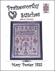 Mary Porter 1832 10/% off Praiseworthy Stitches Counted X-stitch chart