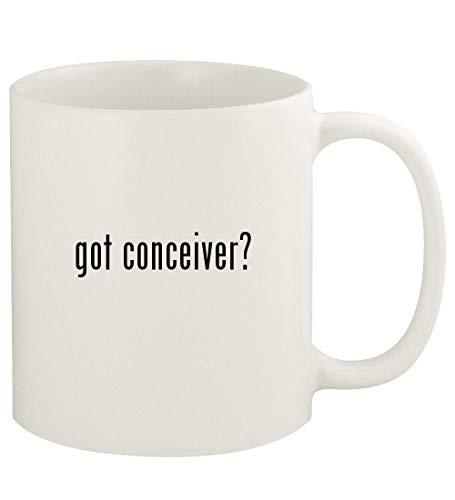 got conceiver? - 11oz Ceramic White Coffee Mug Cup, White
