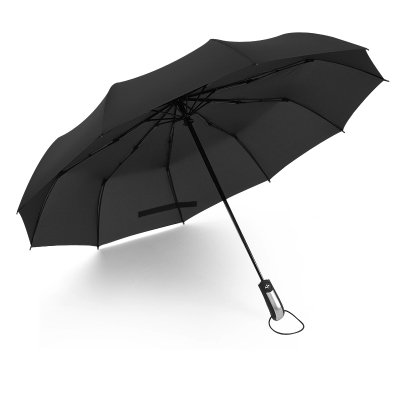 10 Parapluie pliant automatique Windproof Parapluie double usage Os trois renfort