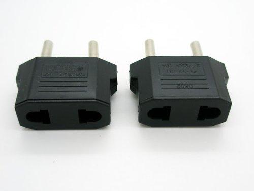 maschio-femmina 2/Adattatori per connettore da parete di colore nero
