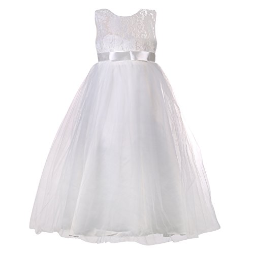 girl white formal dress - 1