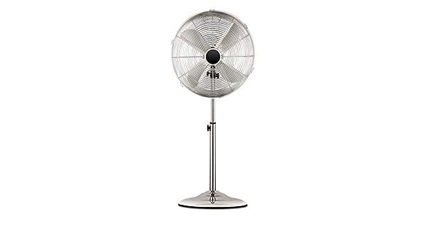 Qilive Ventilateur sur Pied Chrome 55W Q.5877/134481: Amazon.es: Hogar