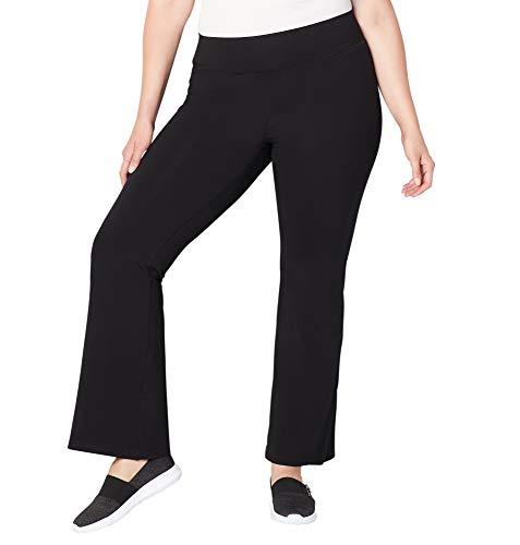 Avenue Women's Pima Cotton Flare Leg Active Pant, 30/32 Black by Avenue