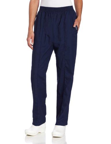 Medical Scrub Landau - Landau Women's Comfortable 2-Pocket Classic Fit Medical Scrub Pant Uniform, Navy, Medium