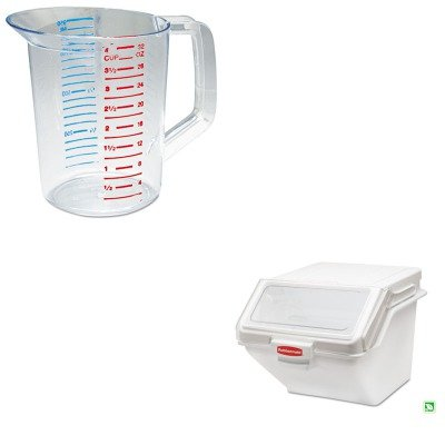 KITRCP3216CLERCPFG9G5800WHT - Value Kit - Rubbermaid PROSAVE Shelf Ingredient Bin (RCPFG9G5800WHT) and Rubbermaid-Clear Bouncer Measuring Cups 1 Quart (RCP3216CLE)