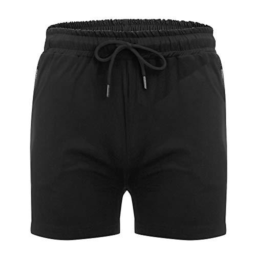DEESEE(TM)Fashion Men Zipper Pure Color Beach Work Casual Men Short Trouser Shorts Pants (L, - Trousers City Suit