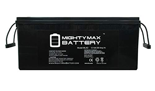 - Mighty Max Battery 12V 200Ah 4D SLA AGM Battery Replacement for Solar Systems Brand Product