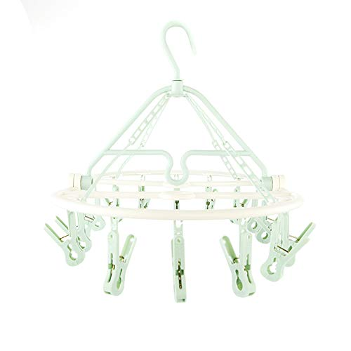 AHUA Folding Portable 18 Clip Drip Hangers for Baby Clothes