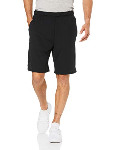 NIKE Mens Dry Training Shorts,Black/Dark Grey,Large