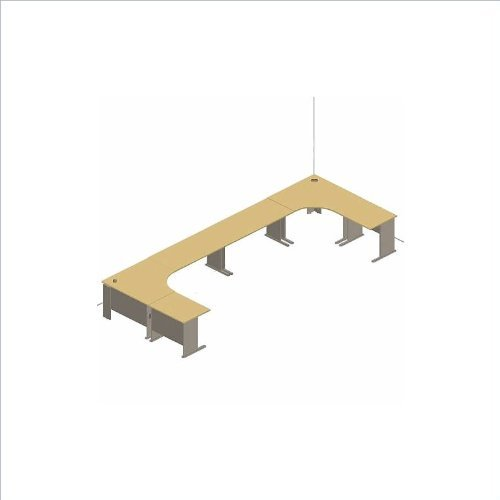 [Bush Furniture A-Series Cubicle Office Set in Hansen Cherry] (Series Cubicle Office Set)