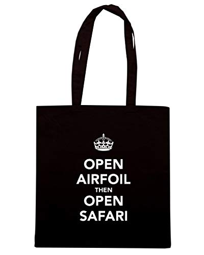 Speed AIRFOIL SAFARI CALM TKC0827 KEEP THEN Shirt OPEN Nera AND Shopper OPEN Borsa zxqr6zBS