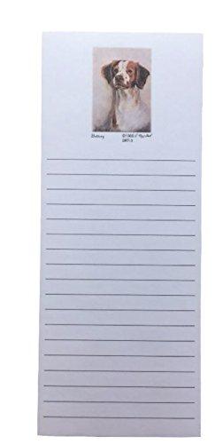 Spaniel Notepad - Brittany Spaniel Dog Magnetic Refrigerator List Pad