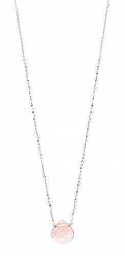 Cherry Quartz Glass Necklace (Womens Audrey Cherry Quartz Stone Sterling Silver)