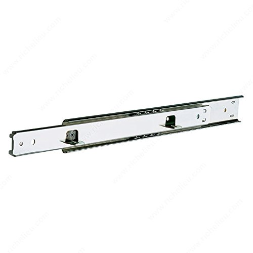 - Series 2002 Two-Way Drawer Slide - 50 lb - T20022G22 - Slide Length 22 in, Load Capacity 50 lb, Slide Extension 3/4 Extension, Finish Zinc, Brand Accuride