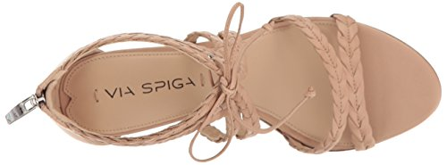 Via Spiga Women's Gardenia Block Heel Dress Sandal Nude Leather pHRNLt