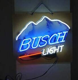 (Neon princess Factory 24x20 inches Busch Light Real Glass Tube Neon Light Home Beer Bar Pub Recreation Room Game Lights Windows)