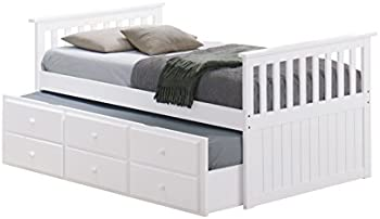 StorkCraft Marco Island Captain's Bed with Trundle and Drawers