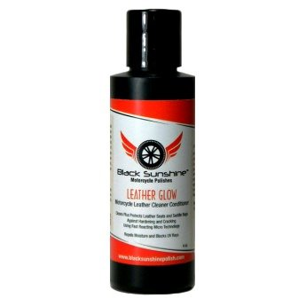 Black Sunshine Leather Glow - Motorcycle leather cleaner and conditioner cleans and protects leather seats, and saddle bags.