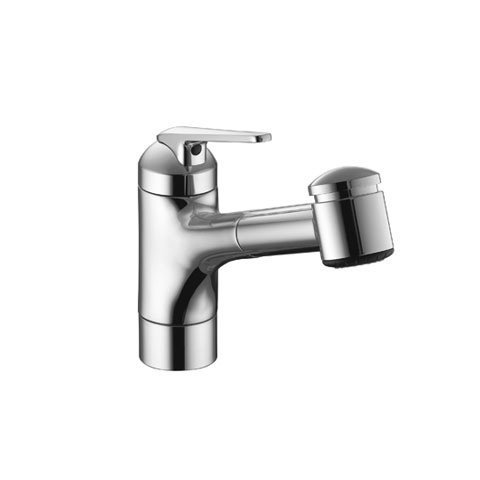 KWC 10.061.033.000 Domo 9 Pull Out Kitchen Faucet Top Lever Polished, Chrome. by KWC