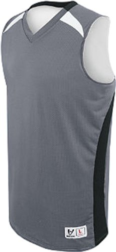 High Five Men's Campus Reversible Basketball Jerseys Small Graphite/Black