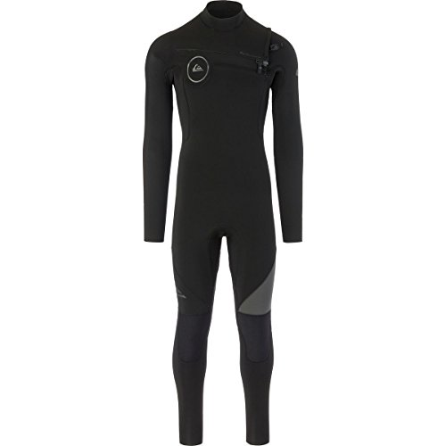 (Quiksilver 4/3mm Syncro Series Chest Zip GBS Men's Full Wetsuits - Black/Black/Jet Black/Large Tall)