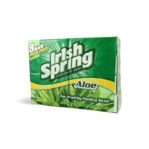 Price comparison product image Irish Spring Aloe Deodorant Bar Soap, 3.75 oz bars, 8 ea (Pack of 9)