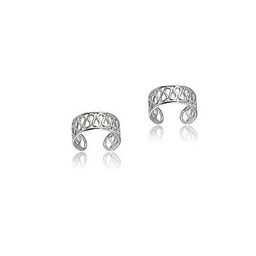 Sterling Silver Polished Filigree Swirl Clip On Ear (Silver Filigree Cuff)