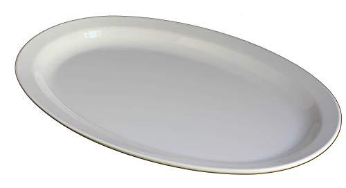 Z-Moments Western Melamine 513 Oval Plate Narrow Rim Platter 13
