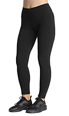 iloveSIA Women's High Waist Running Leggings Solid Color Ankle Length Workout Pants