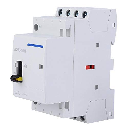 Contacteur CA BCH8-40M 2P 40A 230V M/énage CA Montage sur rail DIN avec commutateur de commande manuelle pour applications domestiques 1NO 1NC