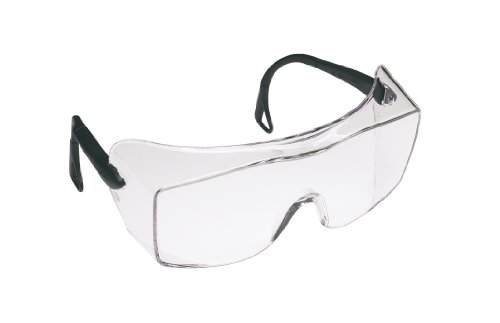 3M OX Protective Eyewear 2000, 12166-00000-20  Clear Anti-Fog Lens, Black Secure Grip Temple