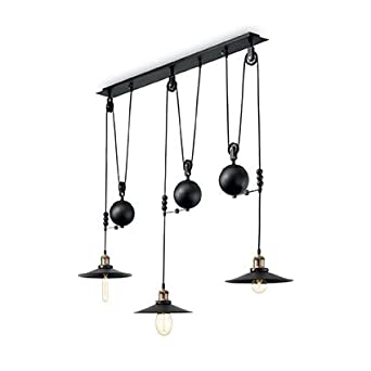Suspension 3 Lampes Design Up And Down Ideal Lux Amazon Fr