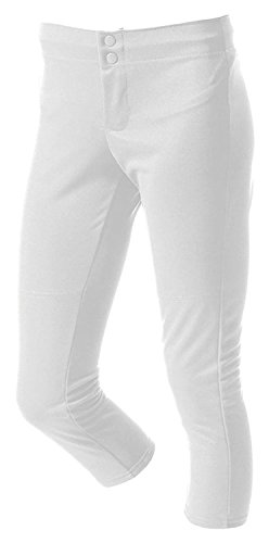 A4 NG6166 Girls Softball Pant - White - XL by A4