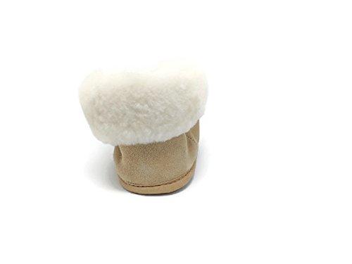 Mens Premium Äkta Australiens Fårskinn Tofflor Mjuk Sula Halka På Dagdrivare Tossor Skor (tan) Brun