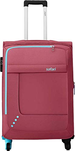 Safari Star 65 4W RED Expandable Polyester Check in Luggage