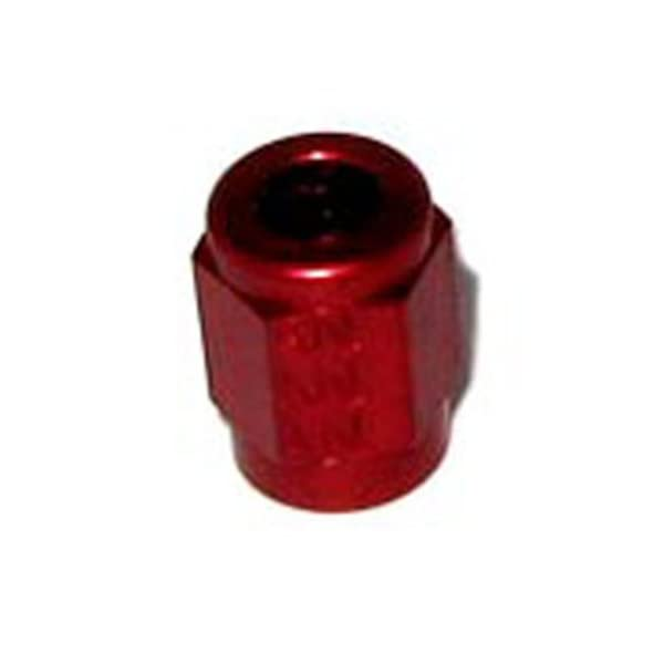 3//16 RED ALUMINUM NUTS FOR 3//16 NITROUS OR BRAKE HARD LINE AN3