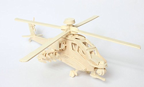 Price comparison product image Kaden G-P 3D Jigsaw Woodcraft DIY Assembly Construction Model Plane aircraft airplane Puzzle Kit Wooden Handcraft Educational Products Wooden Art jigsaw puzzle toys for children diy handmade wooden(Eagle fighter)