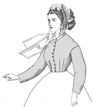 Victorian Blouses, Tops, Shirts, Vests 1860s Darted Bodice Pattern                               $11.53 AT vintagedancer.com