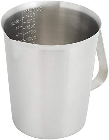 Boealzhl 1500ml Stainless Steel Measuring Scale Cup Kitchen Cooking Baking Tool Baking Beaker Measure JugCup Container