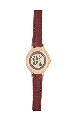 harry potter plataforma 9 3/4 Reloj De Pulsera Burdeos acero inoxidable con ROJA BANDA: Amazon.es: Relojes