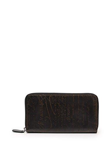 (ベルルッティ) Berluti ITAUBA SCRITTO V2 カリグラフィー ロングジップ付きウォレット 財布 レザー 黒 ベージュ 51450 中古 B07D74ZVD9