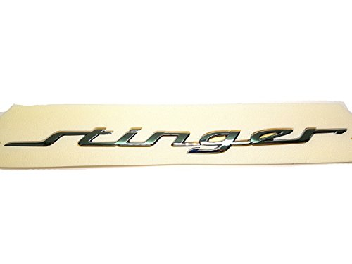 Stinger Rear (Genuine OEM Stinger Lettering Emblem Badge For 2017 2018 2019 Kia Stinger)